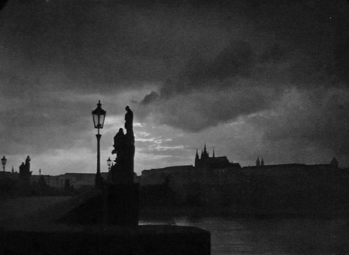 1940 JOSEF SUDEK Vintage Czech Photo Gravure Charles Bridge Prague