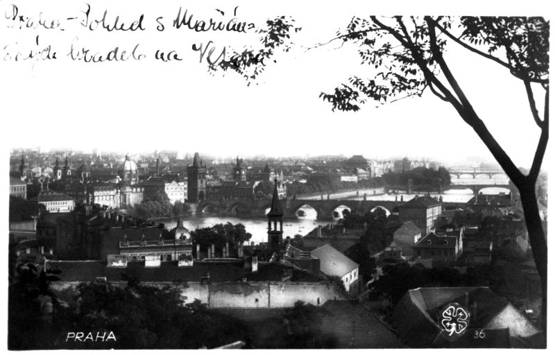 Czechoslovakia-Prague-city-bridge-photo-postcard
