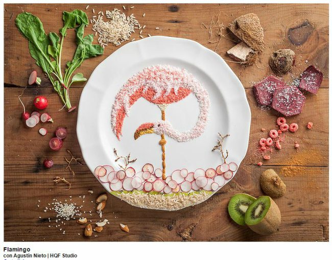 Flamingo-Food-Art