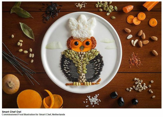 Smart-Chef-Owl-Food-Art