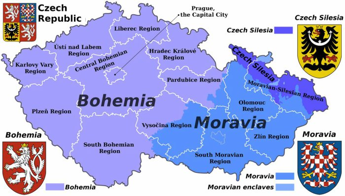 Bohemia-Czech-Czechoslovakia-on-a-map