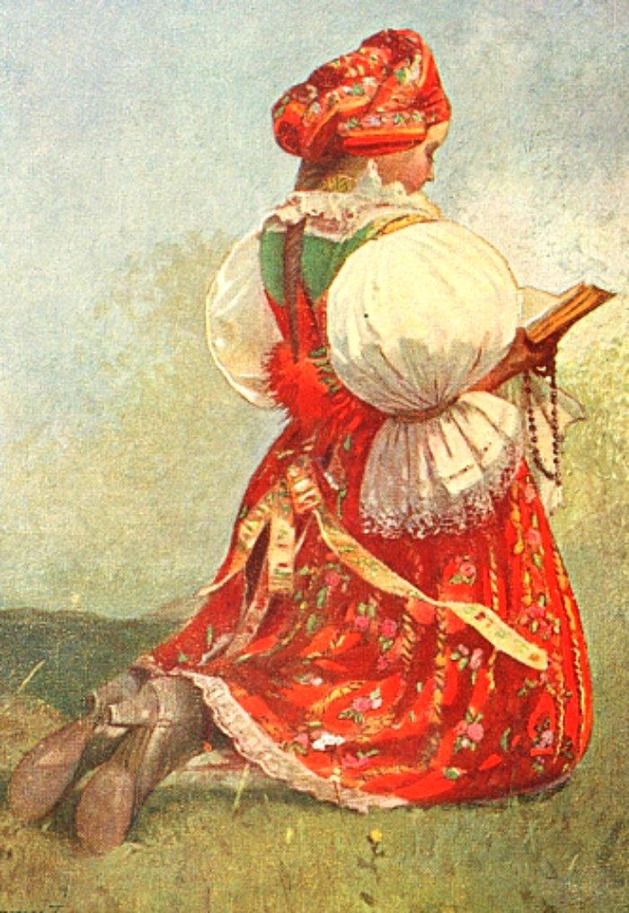 Ethnic-folk-dress-Czechoslovakian-1900s