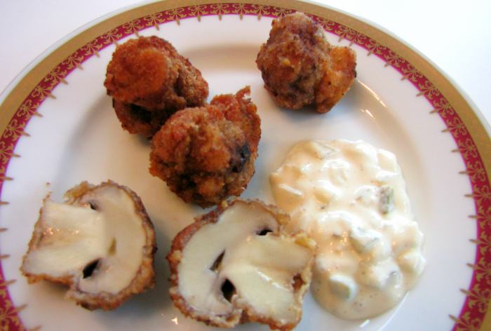 Fried-Mushrooms-Recipe-with Tartar-Sauce-4
