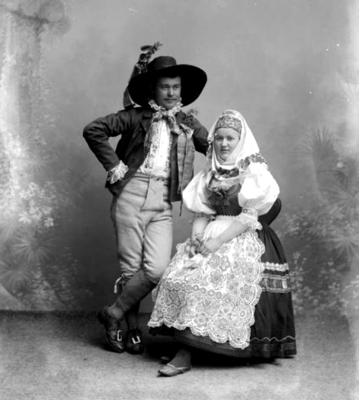 Husband-and-Bride-in-folk-dress-1890-slavic