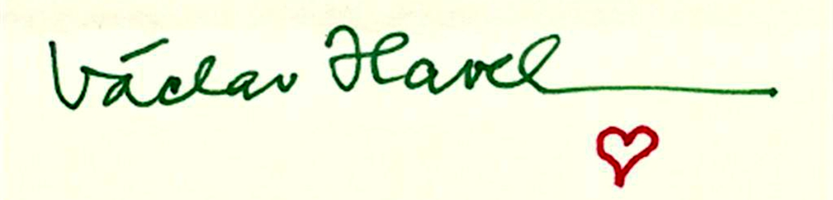 Vaclav-Havel-Signature-with-a-Heart