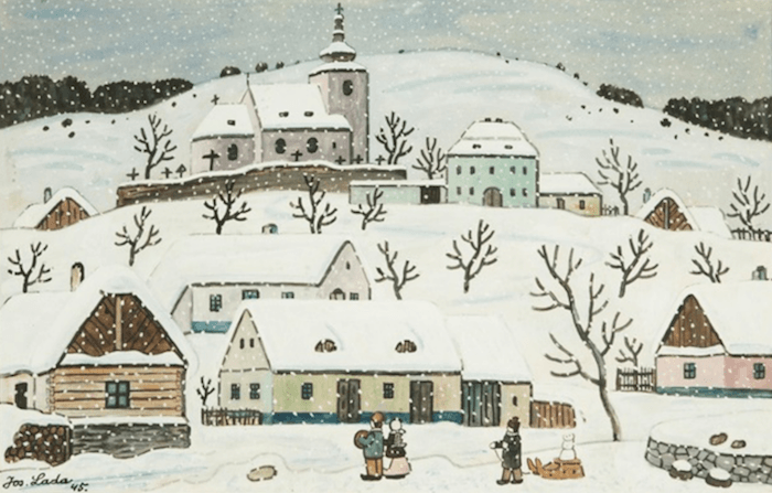 Josef-Lada-Holiday-Illustrations-Tres-Bohemes