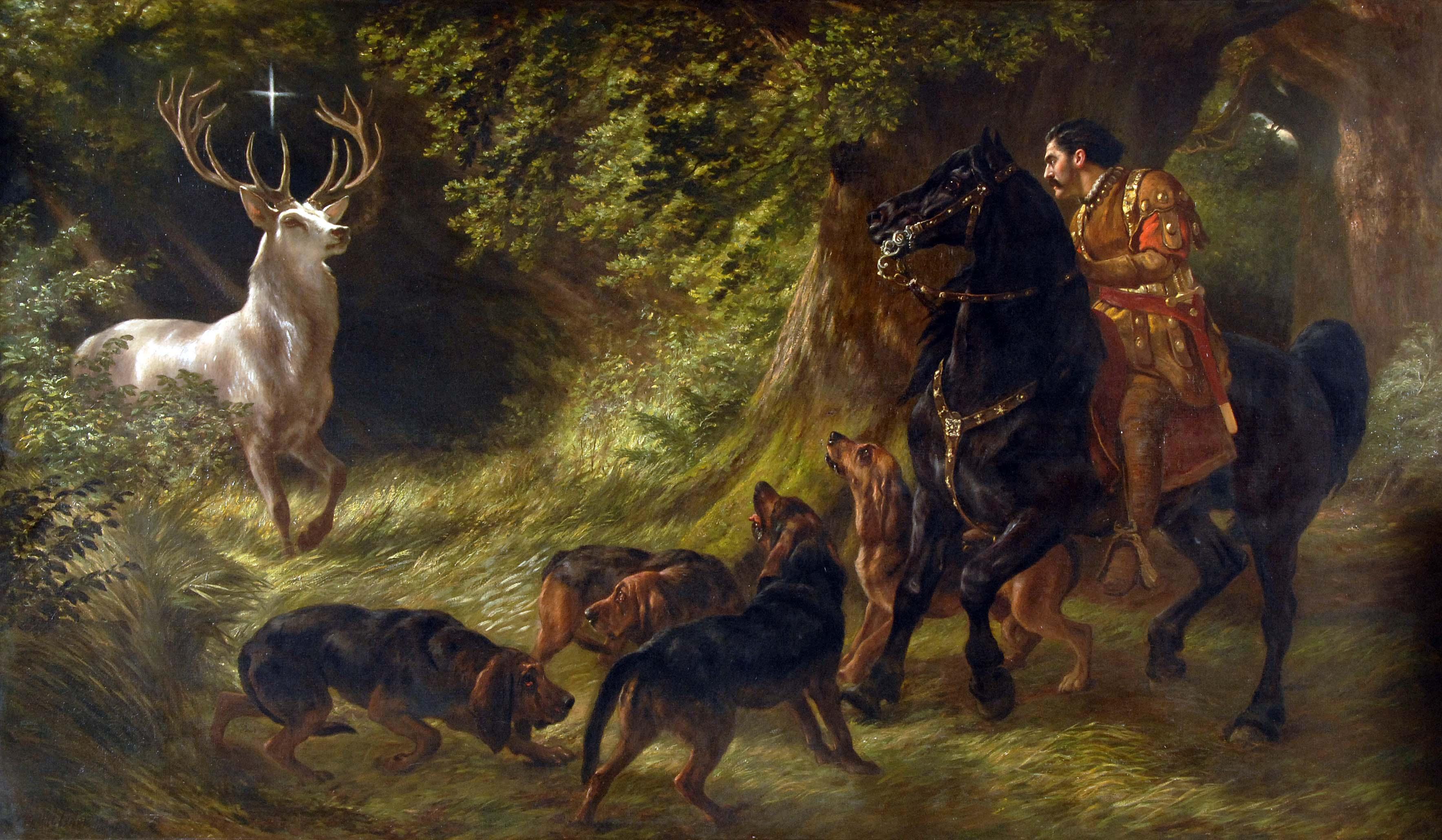The international order of st hubertus tres bohemes a for John s painting