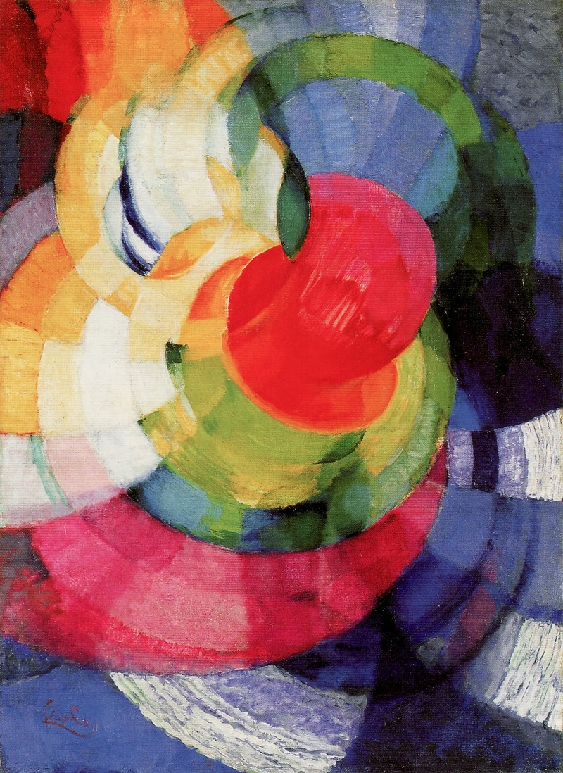 Kupka: Disks of Newton, Study for Fugue in Two Colors, c. 1911
