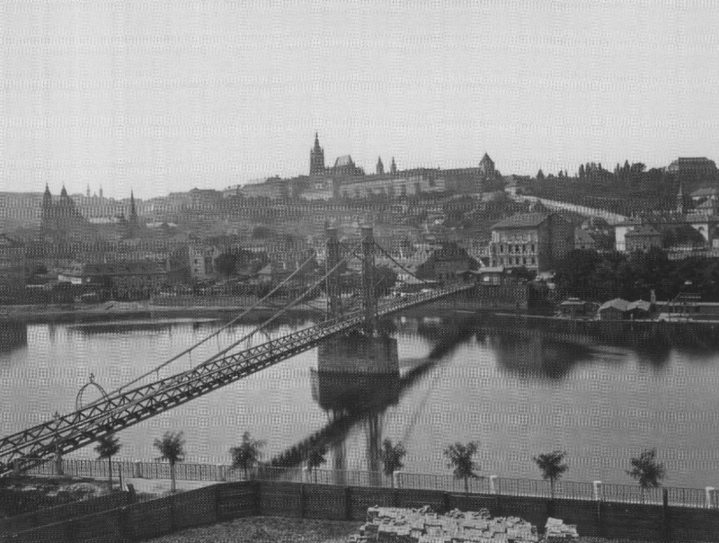 Panorama Mala Strana and Hradcany Castle in 1880.