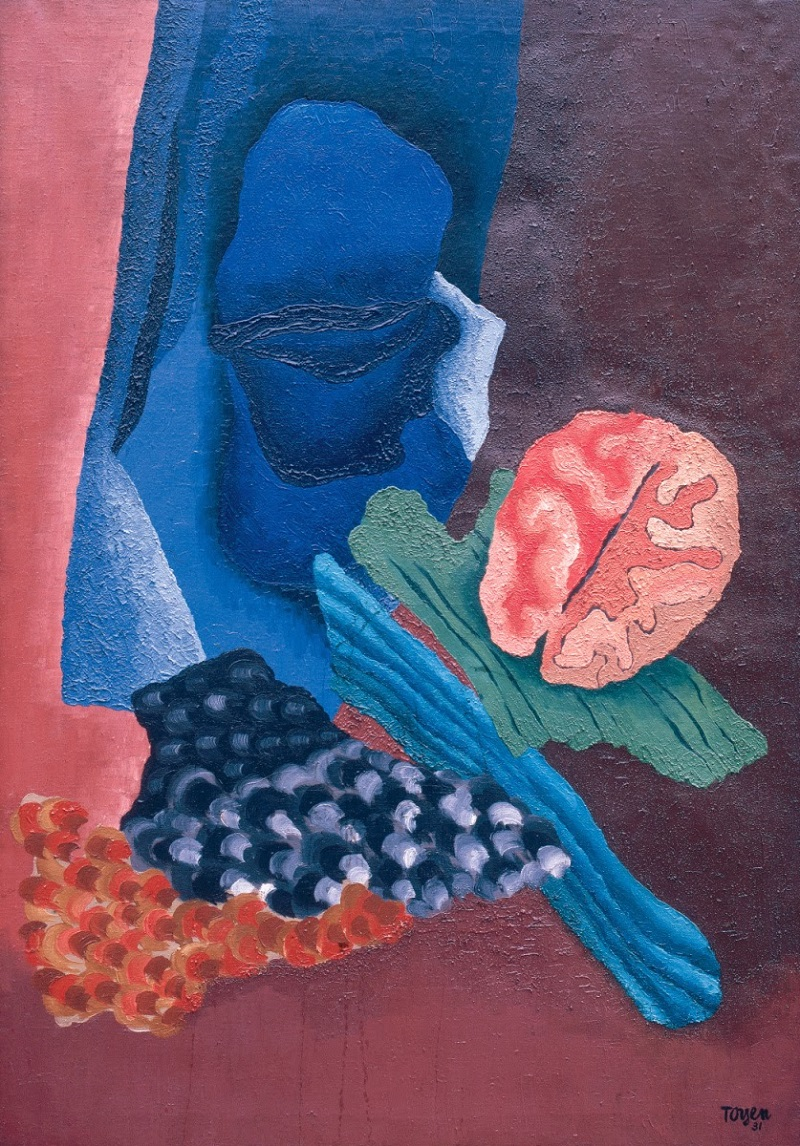 Toyen c. 1931, Floral Sleep