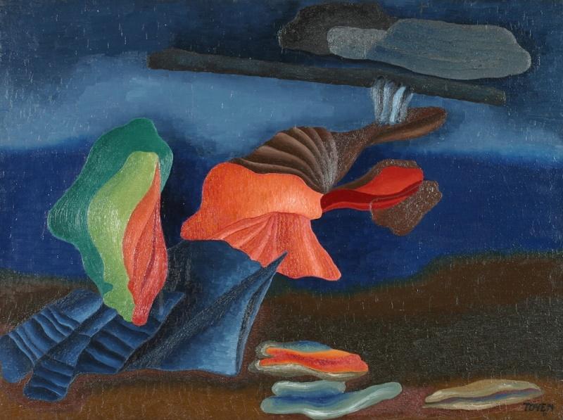 Toyen c. 1931, Night in Oceania.