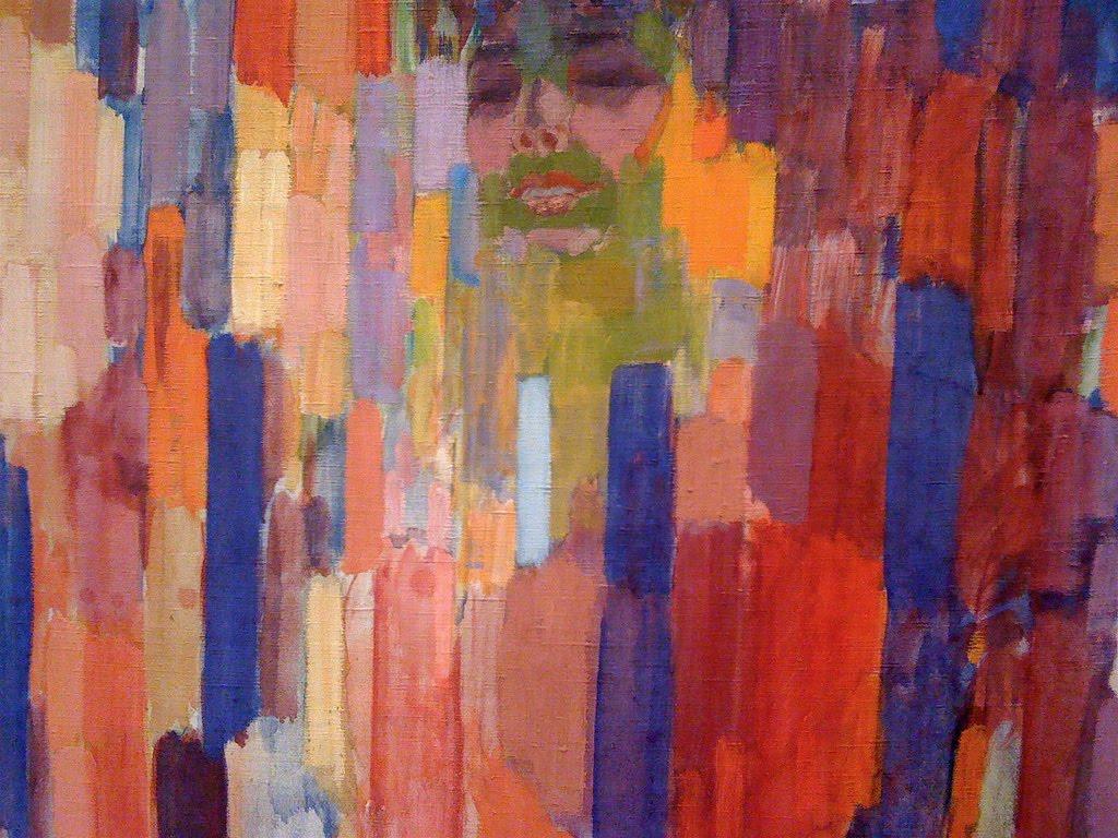 c. 1910-1911, Mme Kupka among Verticals.