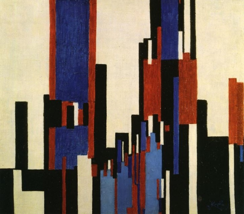 c. 1913, Vertical Plains Blue and Red.
