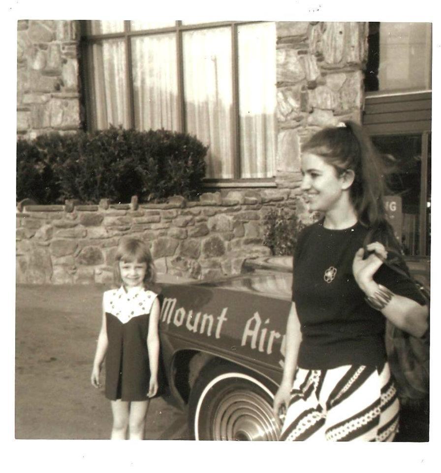 Kytka Hilmar and Anna Hilmar at Mount Airy Lodge, 1969