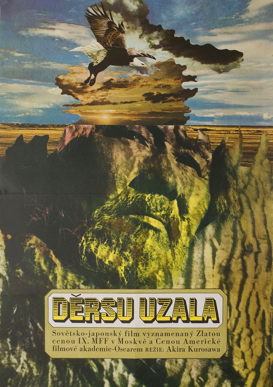 Dersu Uzala 1976 Original Czech Republic Movie Poster