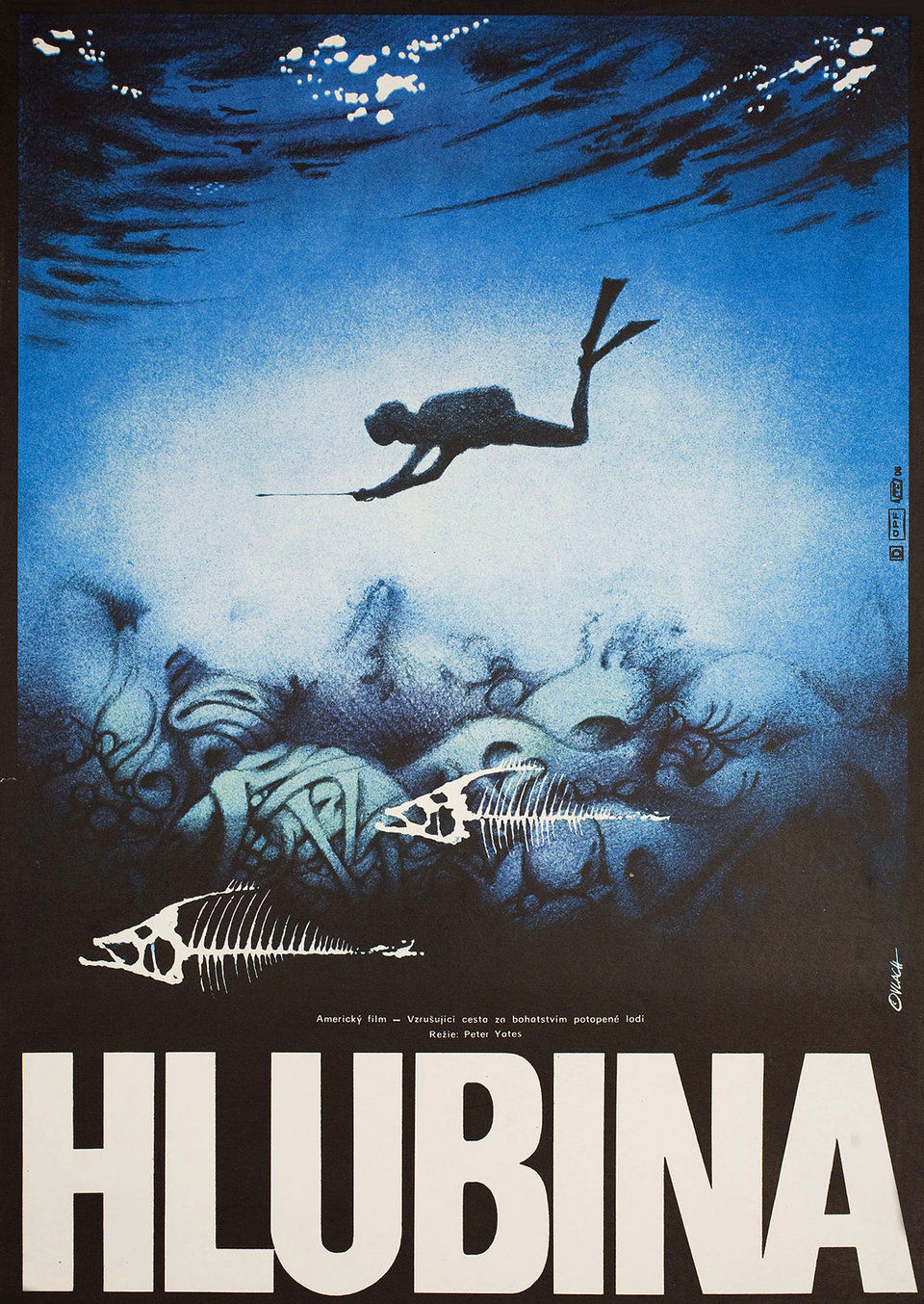 The Deep 1977 Original Czech Republic Movie Poster