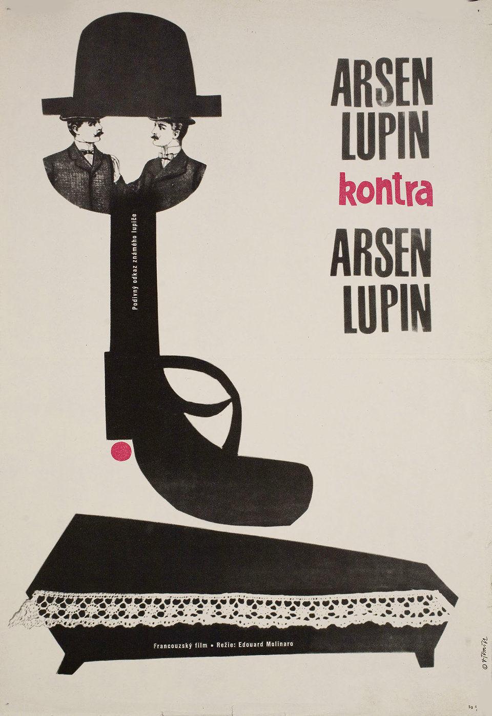 arsene-lupin-contre-arsene-lupin-1962-original-czech-movie-poster