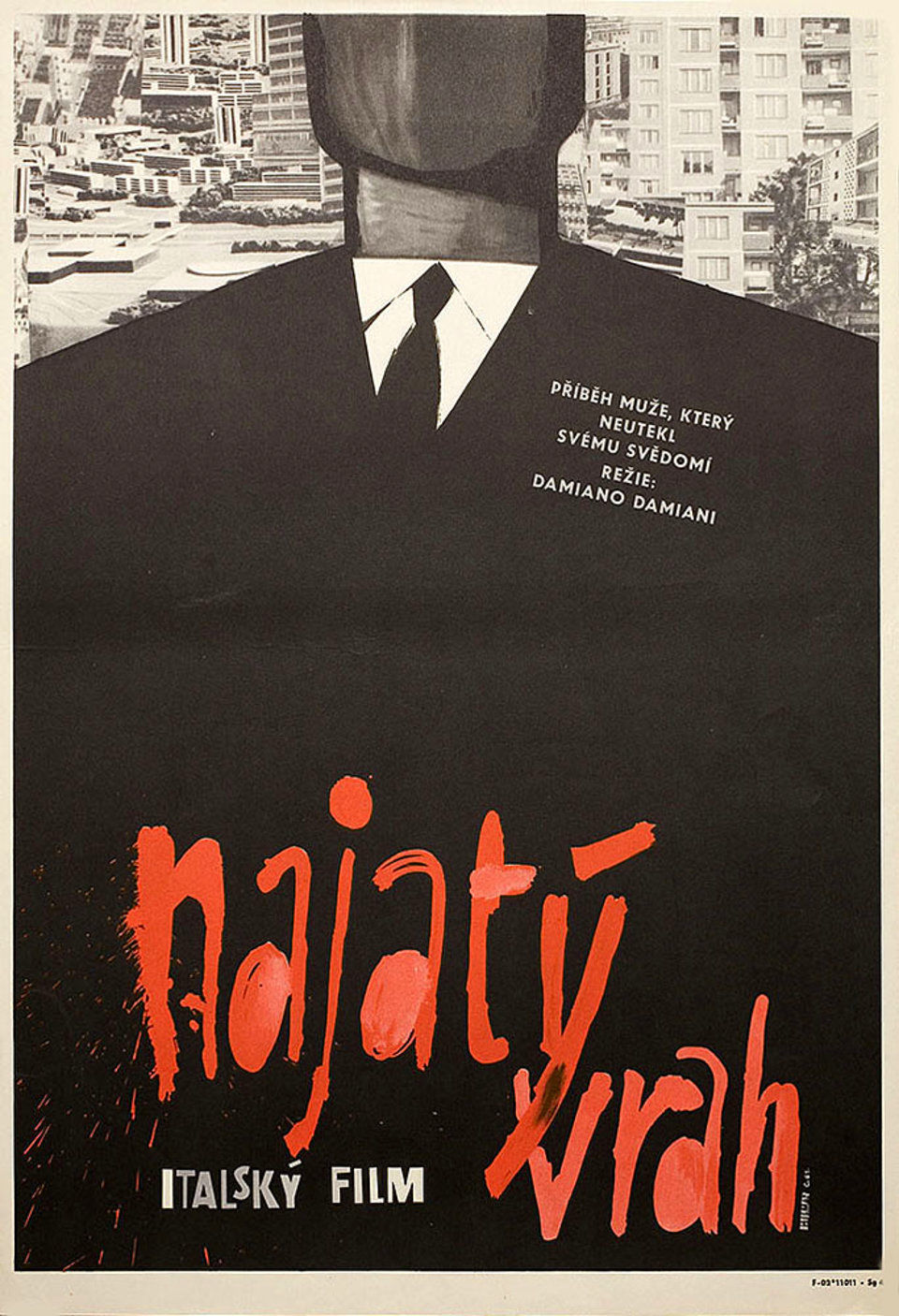 blood-feud-1962-original-czech-movie-poster