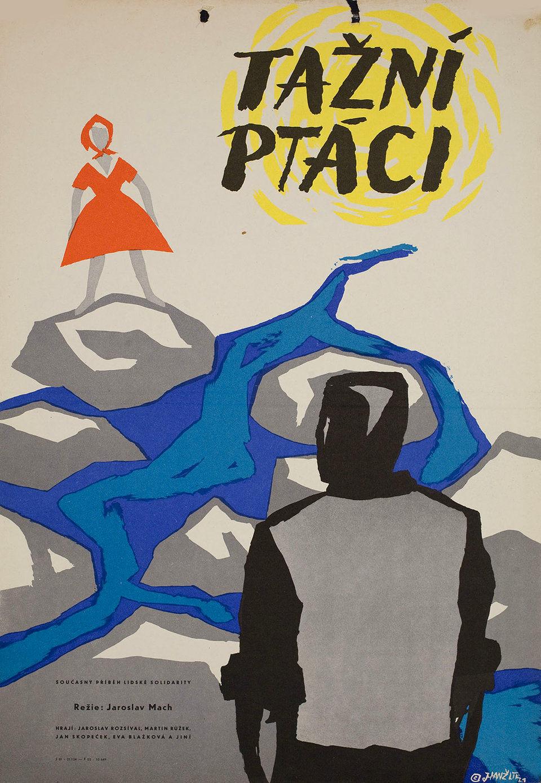 tazni-ptaci-1961-original-czech-republic-movie-poster