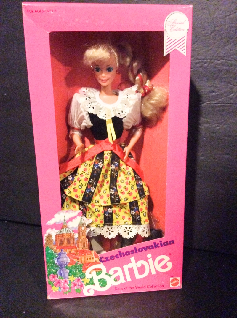 In the 1990s, even Barbie was dressed in Czech costume.