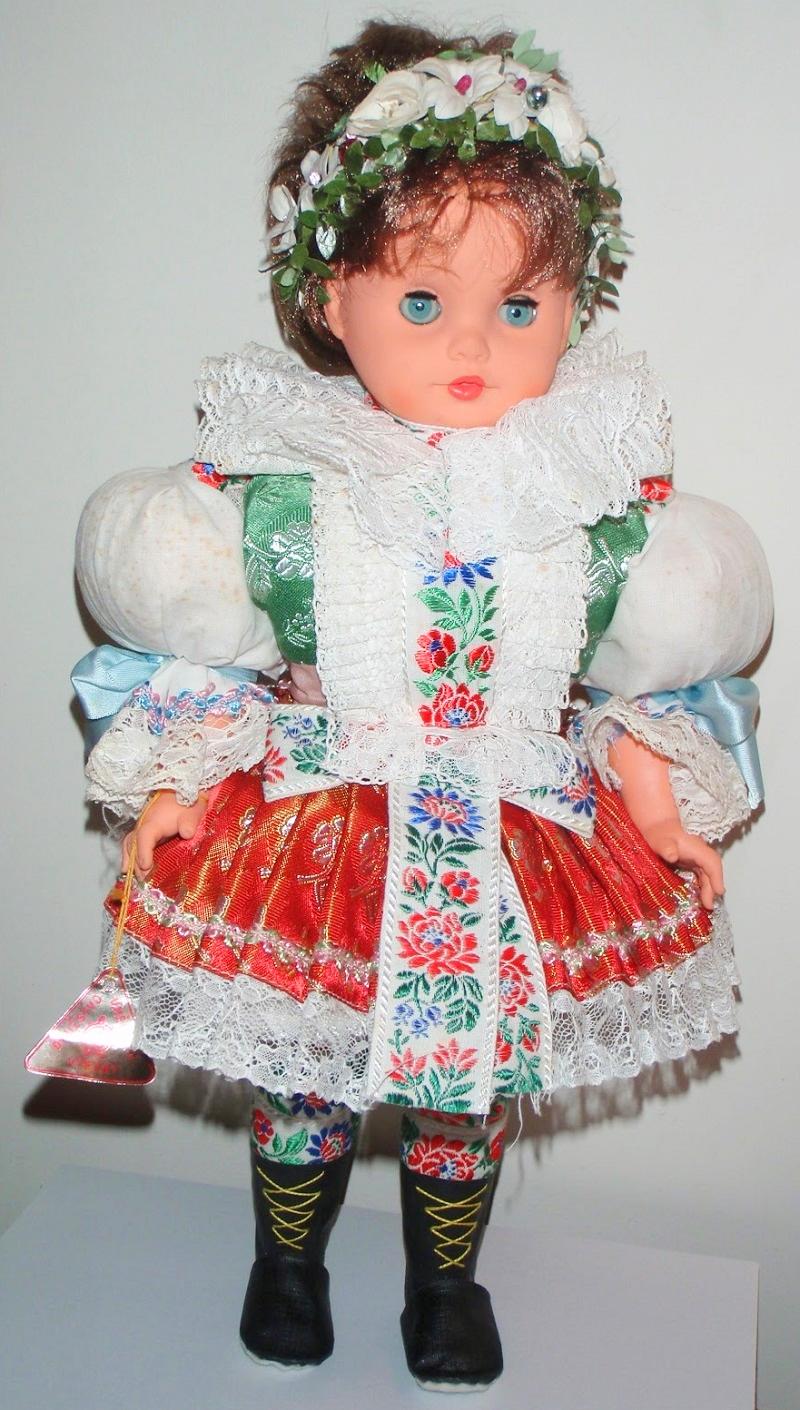 Czech doll in Moravian costume, 2000.