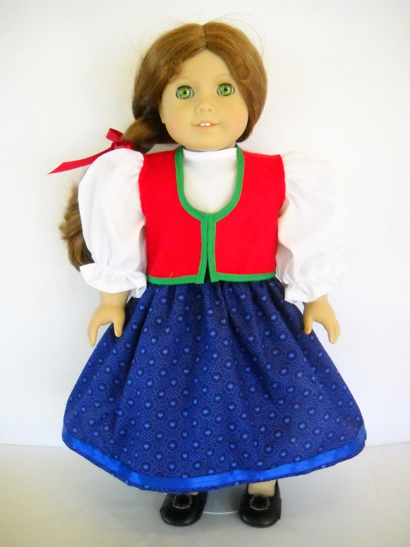 Another modern day American Girl brand vision of a traditional Czech dress.