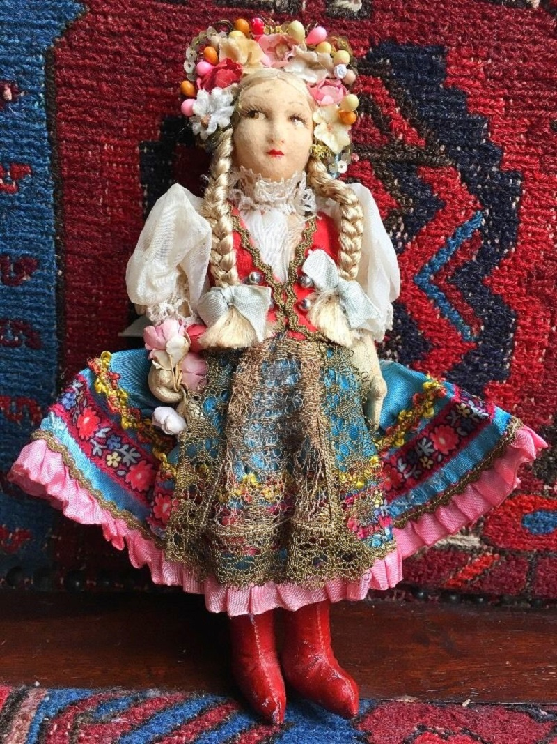 Handmade Moravian Doll from the 1980s.
