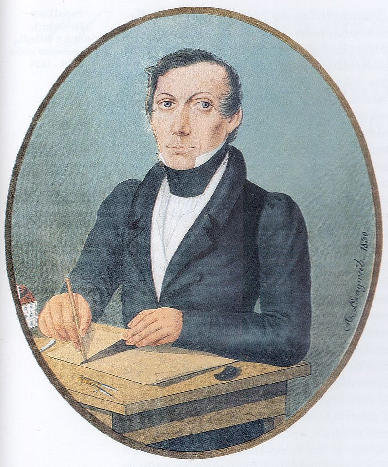 Self-portrait of Antonín Langweil, 1830