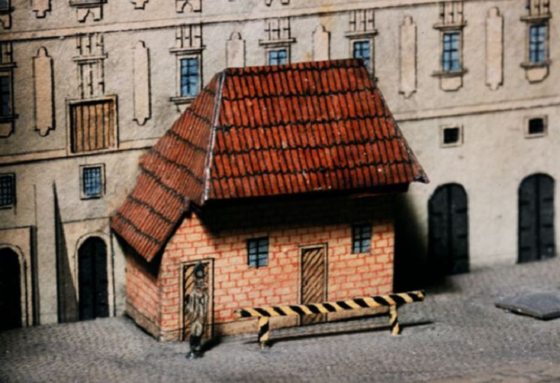 Detail of the model. The Old Town. A soldier on guard in Havelská Street. Photo: Miroslav Fokt.