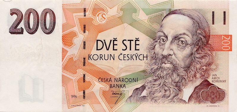 200-czech-koruna-banknote-tres-bohemes