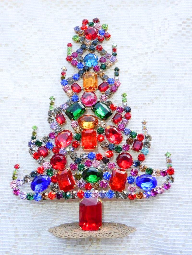 we hope you enjoyed our visual collection of vintage and antique rhinestone and crystal christmas trees if you would like to find some for your collection - Crystal Christmas Trees