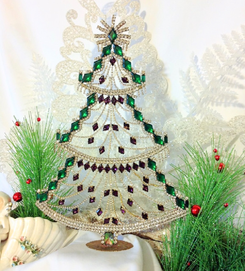 we hope you enjoyed our visual collection of vintage and antique rhinestone and crystal christmas trees if you would like to find some for your collection - Crystal Christmas Tree