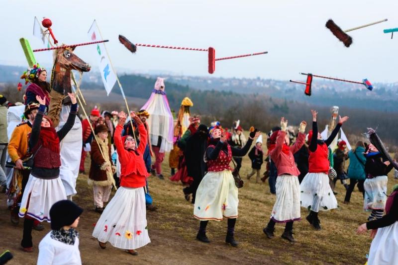 Shrovetide Procession Brooms