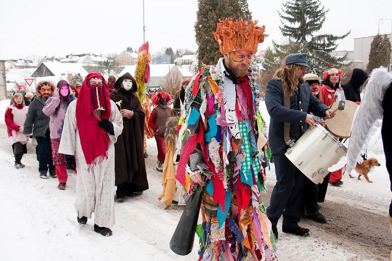 Shrovetide Procession Paraders