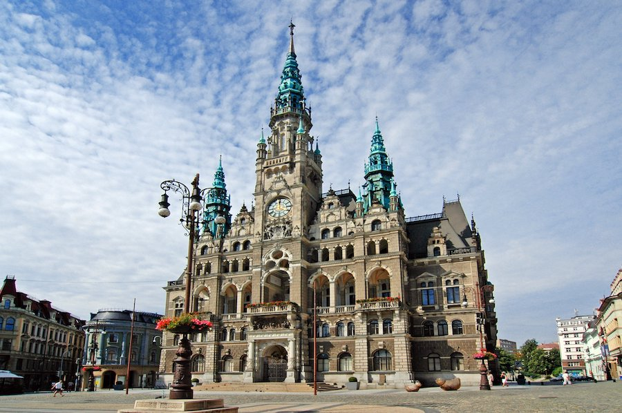 The Beautiful And Historic Liberec Town Hall Tres Bohemes