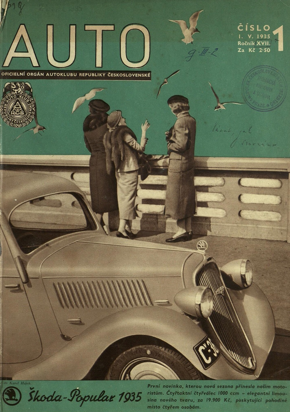 Beautiful Vintage Czech Auto Magazine Covers From 1935