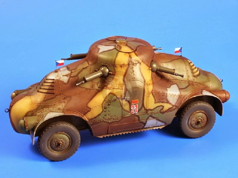 Czechoslovak Armored Car from WWII Skoda Panzerwagen II Turtle