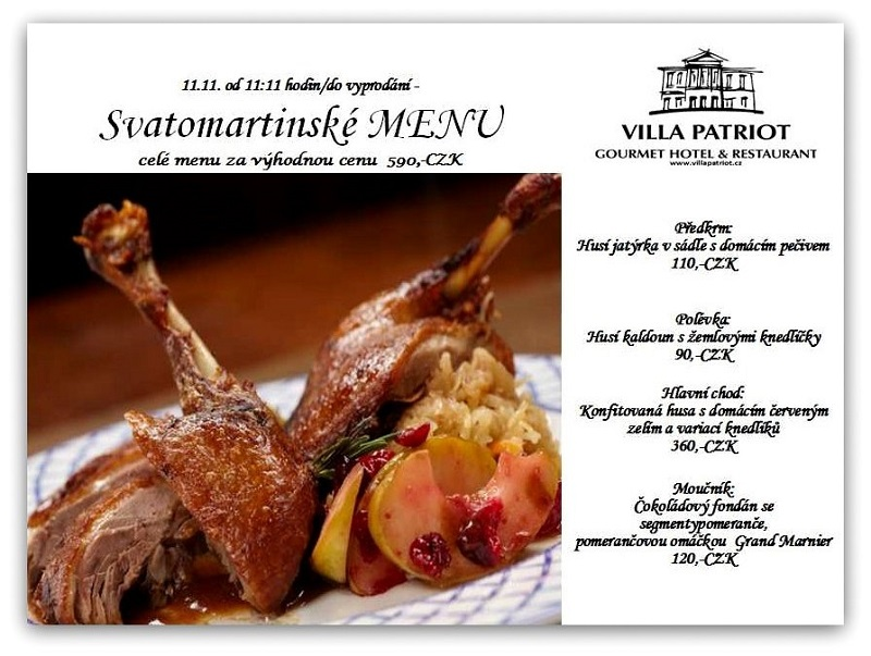 Celebration of Martinmas and the Czech Goose Dinner
