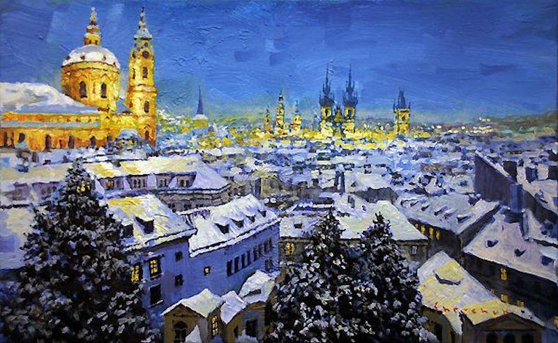 Oil-Paintings-of-Prague-by-Yuriy-Shevchuk-Tres-Bohemes-21