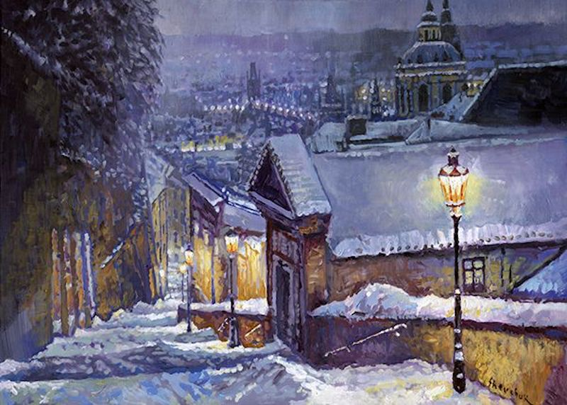Oil-Paintings-of-Prague-by-Yuriy-Shevchuk-Tres-Bohemes-24