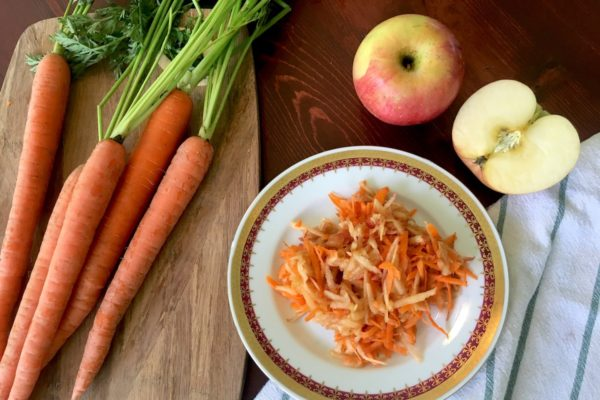 Grated Apples with Carrots