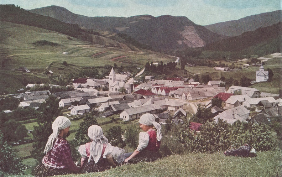 CLOSE TO THE LAND AND THE CHURCH, CZECHOSLOVAK FARMERS GENERALLY LIVE IN VILLAGES, RARELY ON THEIR FARMS