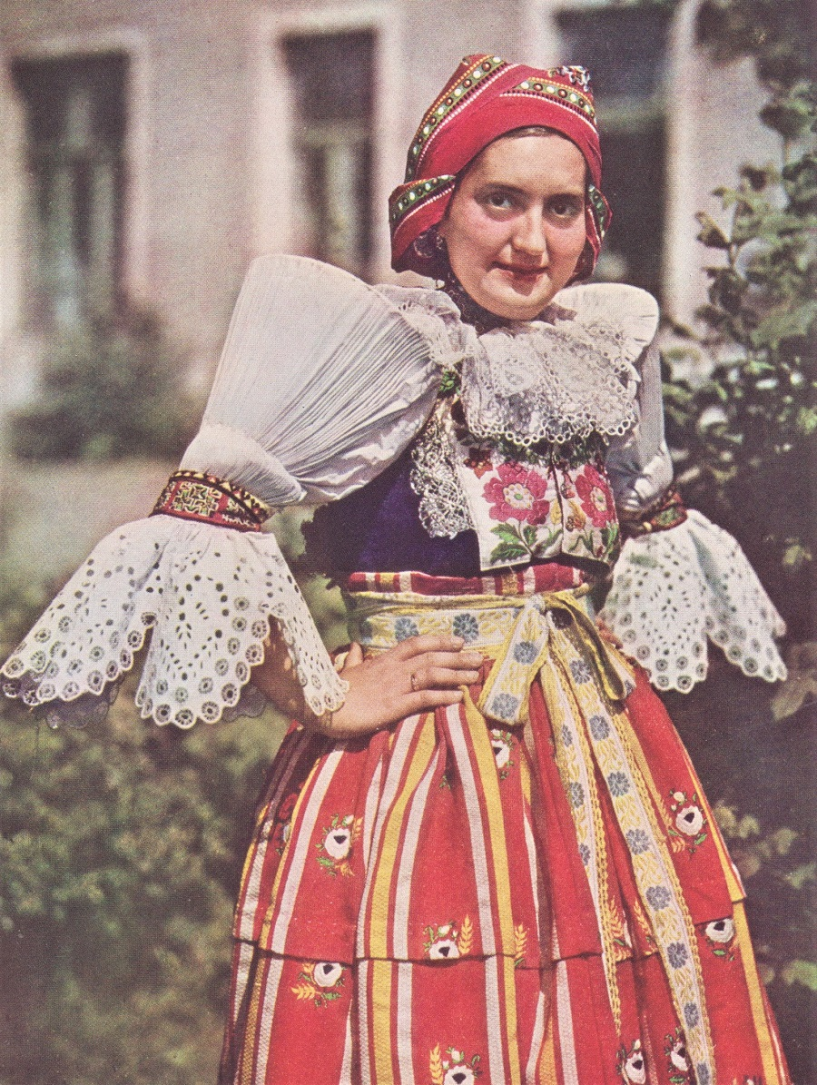 Czechoslovak woman in a kroj 1938