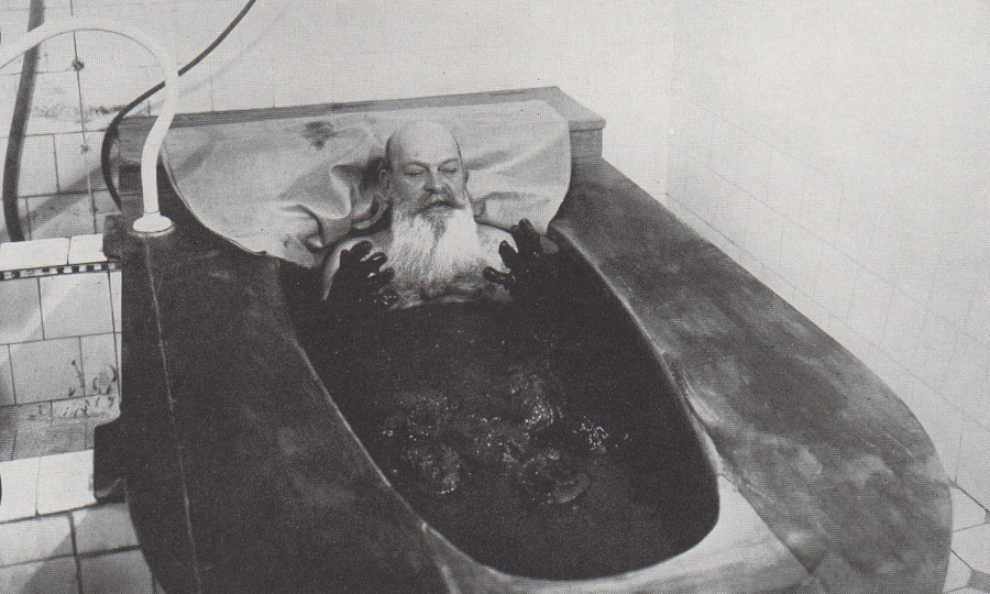 Volcanic mud bath in Czechoslovakia