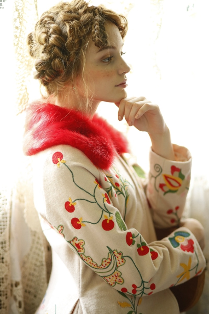 Stunning & Unique Czech Inspired Embroidered Coat