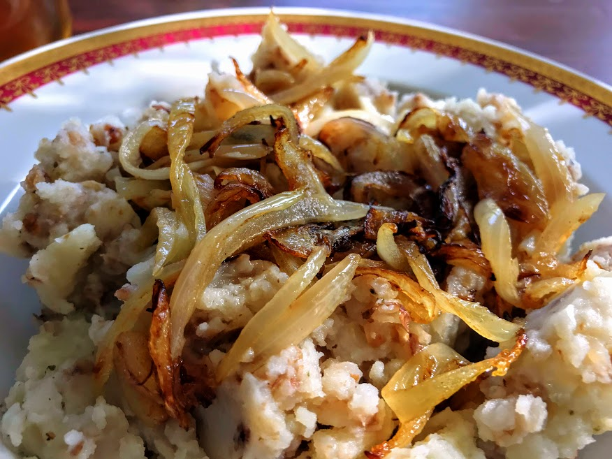 Bohemian Potato Mash with Fried Onions
